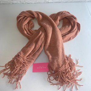 Isaac Mizrahi New York Salmon Pink Knit Scarf